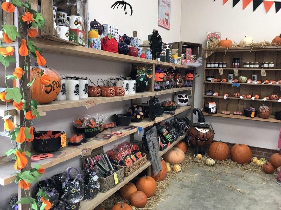 Pumpkin Picking In Essex halloween goodies in shop