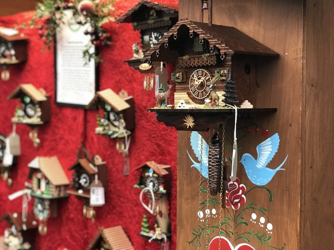 Christmas German Market in Essex - close picture of a cuckoo clock