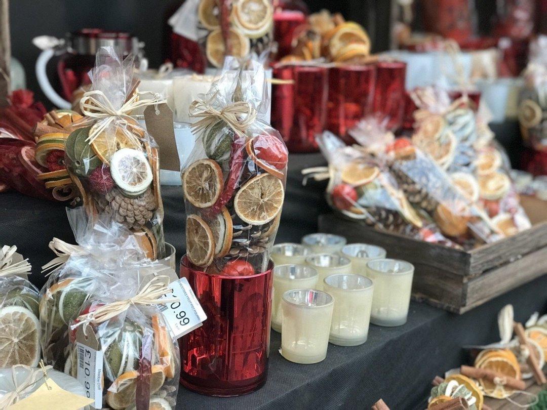German Market in Essex - dried orange gifts