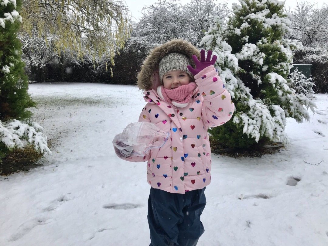 My little loves December Eden in the snow