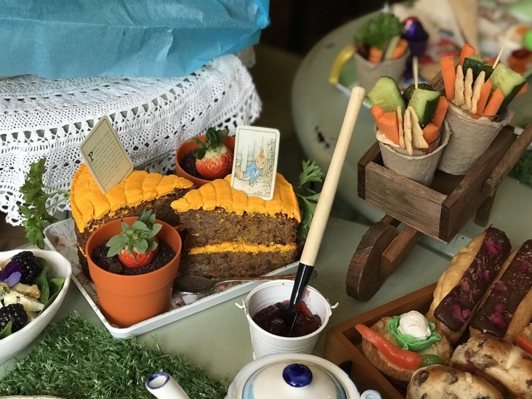 Abide from above - A Tale of Peter rabbit themed afternoon tea