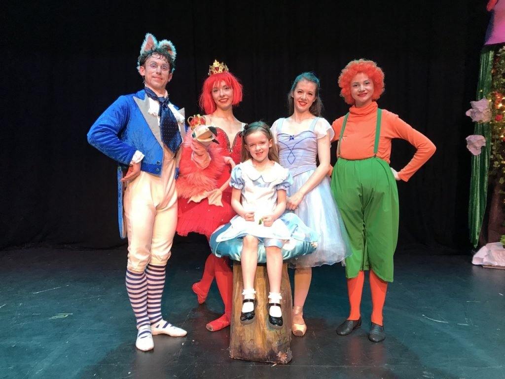The cast from The Alice in Wonderland Show with Lets All Dance
