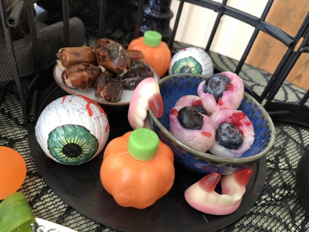 Disgusting treats from the Haunted Mansion Halloween Afternoon Tea