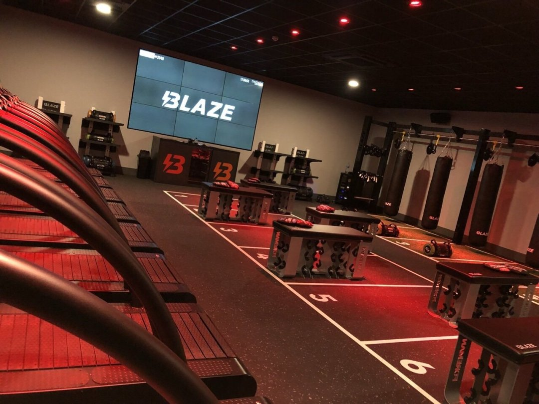 Blaze boutique studio for fitness class at David lloyd gym, keep motivated at the gym