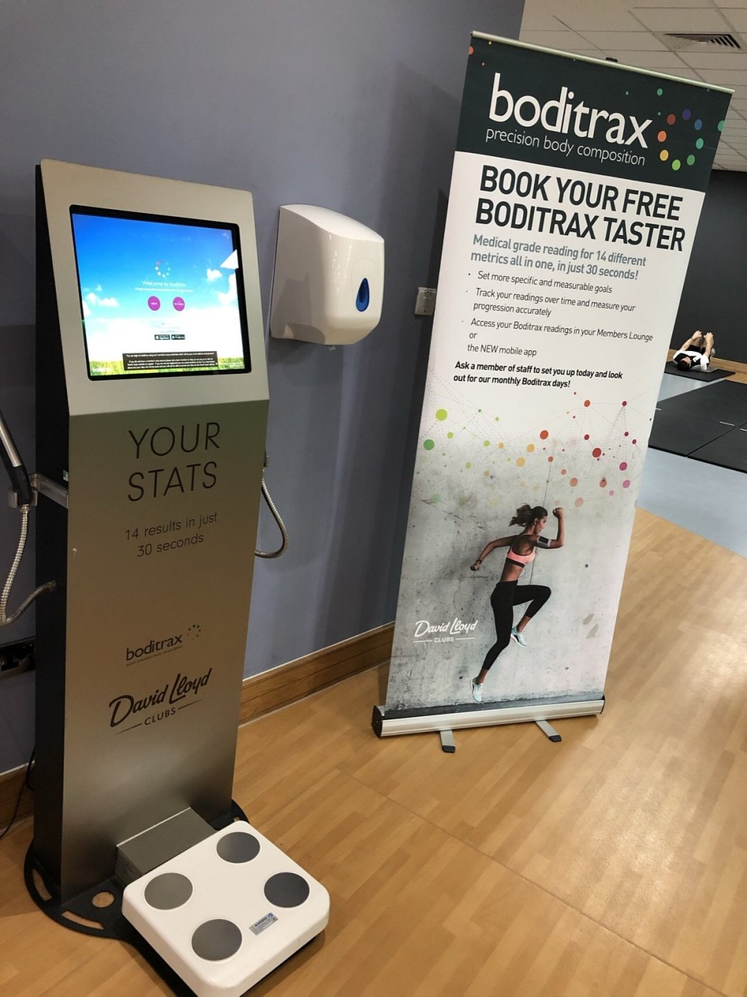 Boditrax body measuring scales at David Lloyd Gym