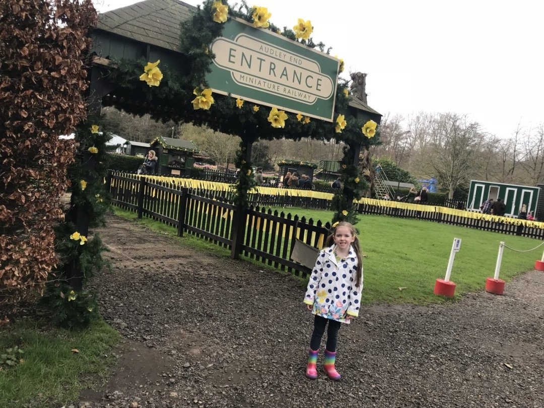 Eden outside the Easter Train at Audley End entrance