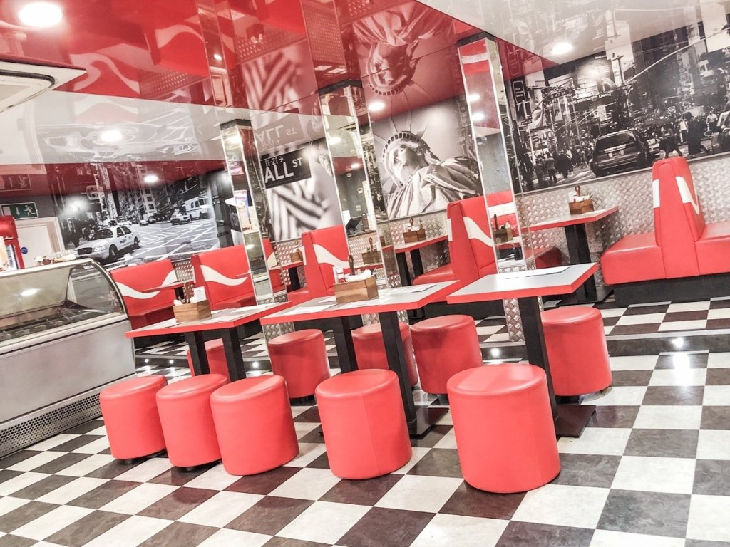 East Coast diner at Rollerbowl romford