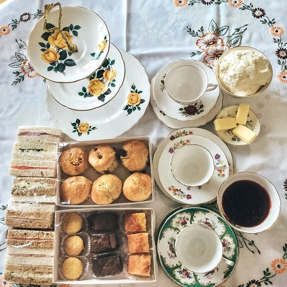 afternoon tea and cake delivery during lockdown in essex