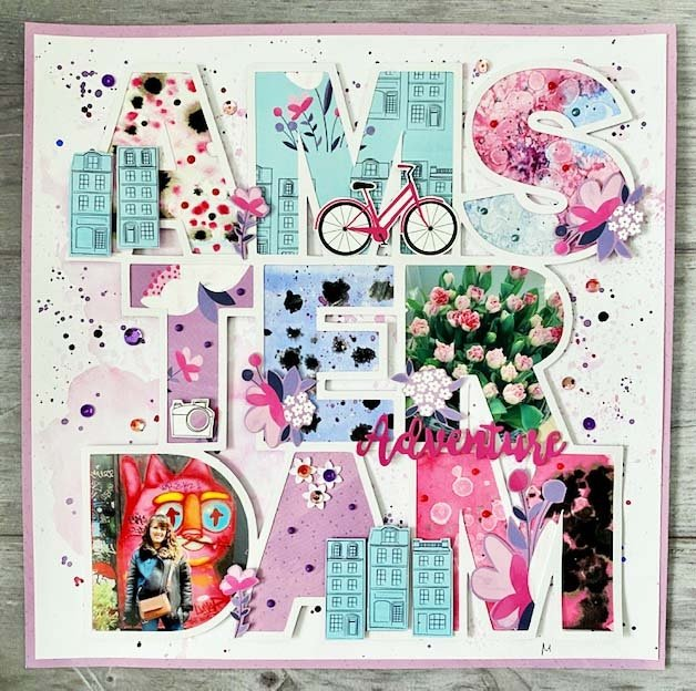 Amsterdam cutfile scrapbooking page by like love do