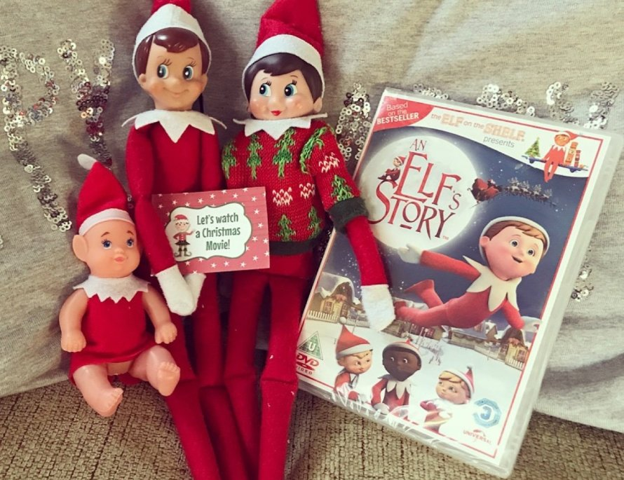 Elf on the shelf easy ideas watch a christmas movie