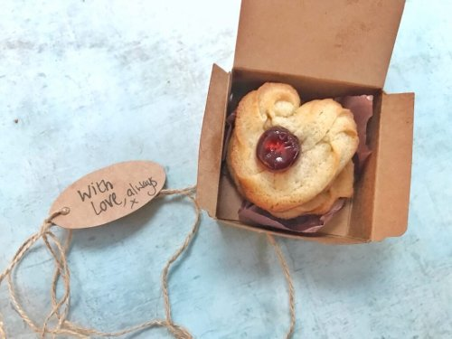 Heart Shaped Danish Butter Biscuit recipe from Hodge Podge Days