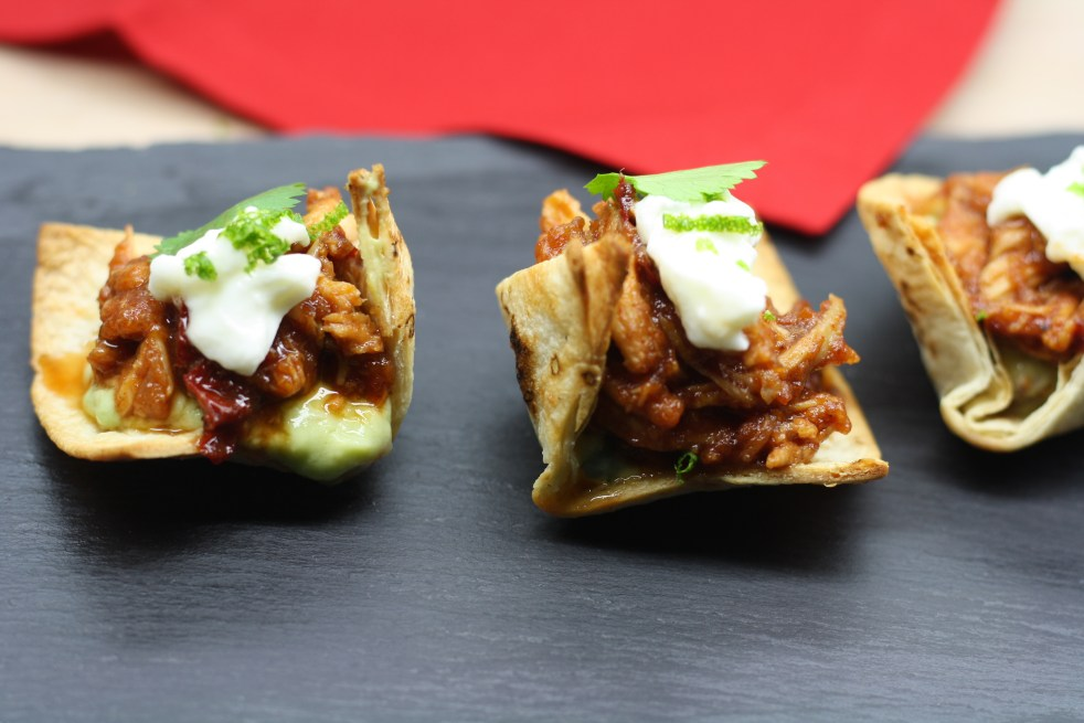 Chipotle Chicken Tostadas