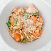 Sweet Potato and Asparagus Risotto