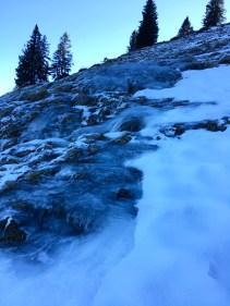Ice covered ground