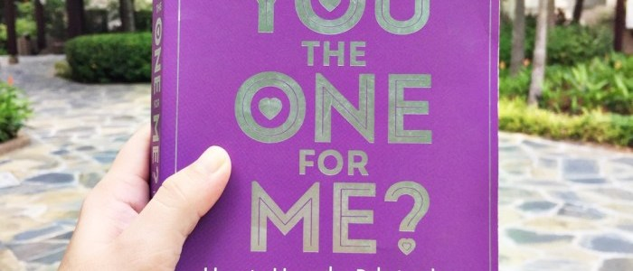 BOOK OF THE MONTH: ARE YOU THE ONE FOR ME? BY BARBARA DE ANGELIS