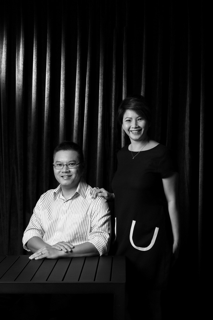 profile shot of annie tan (director) and raymond tan (executive director) of tsk foods
