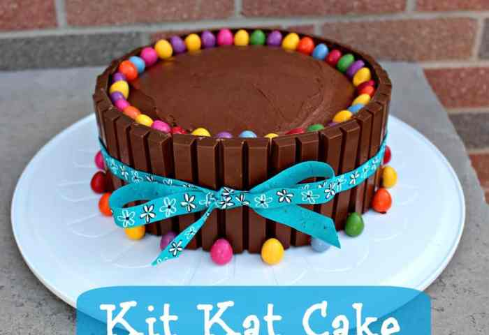 Kit Kat Cake Recipe Easy Birthday Cake Idea