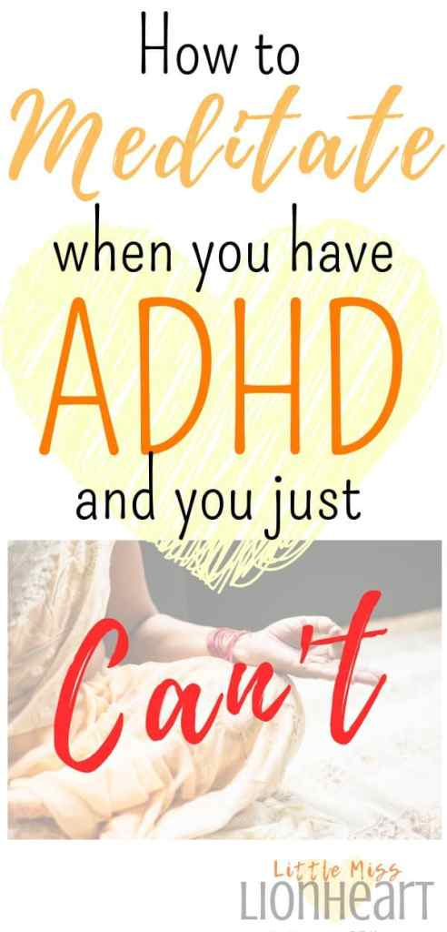 Mindfulness is an effective strategy for working with ADHD symptoms, but it's much harder for ADHD adults to do. Here are some easy tips to do mindfulness meditation when you have ADHD.#ADHDwoman #ADHDstrategies #executivefunctioning #mindfulness #ADHDadult #ADHD