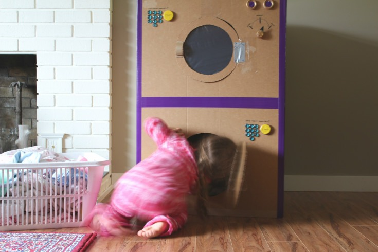DIY Cardboard Box Laundry Set  Little Miss Mama