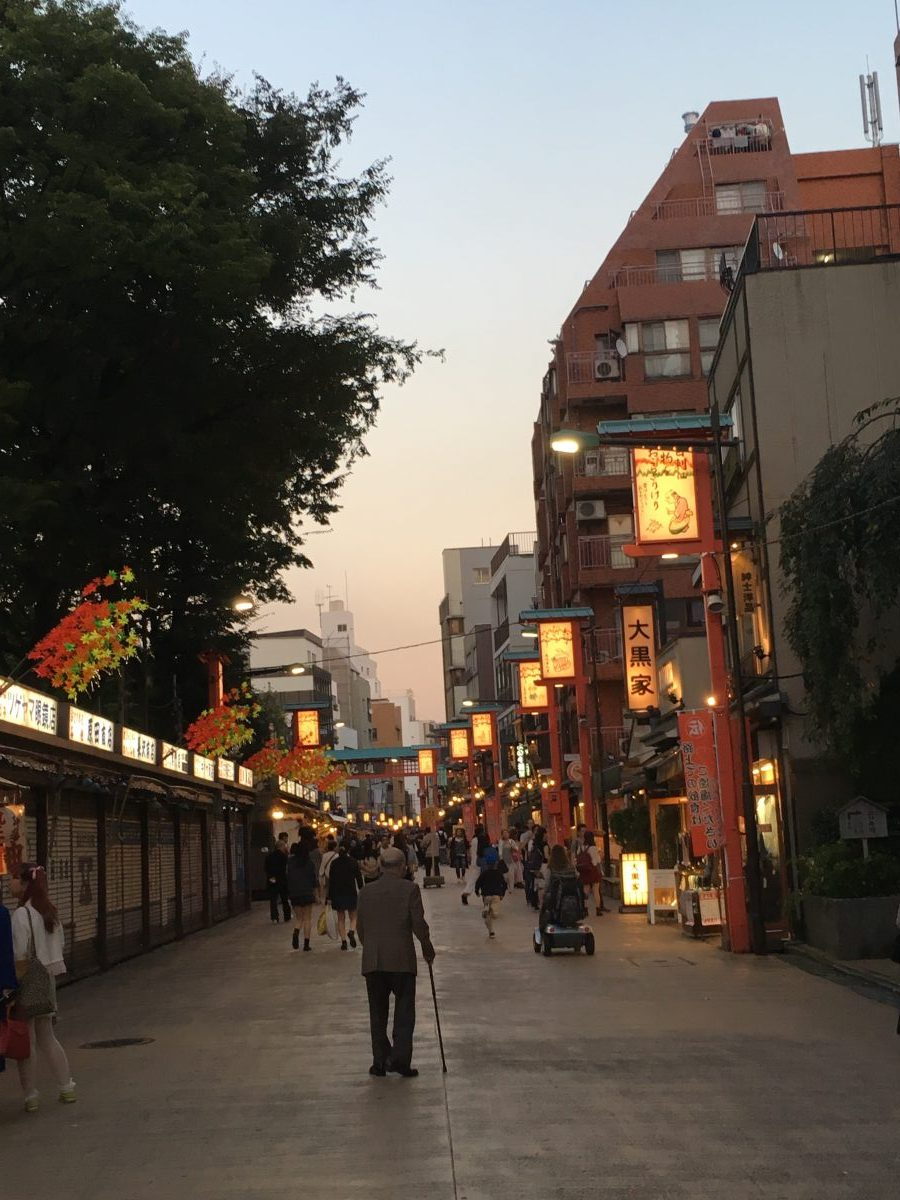 Accessible Asakusa at sunset