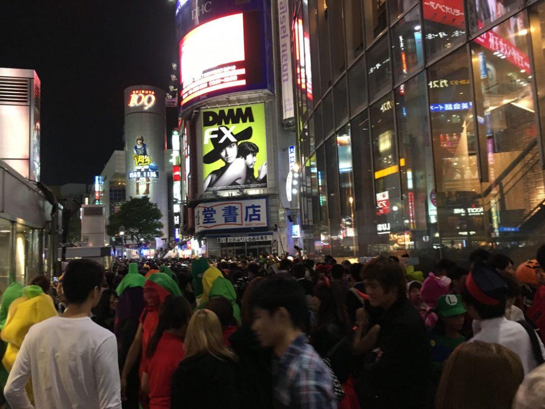 Crowds in Shibuya, Tokyo