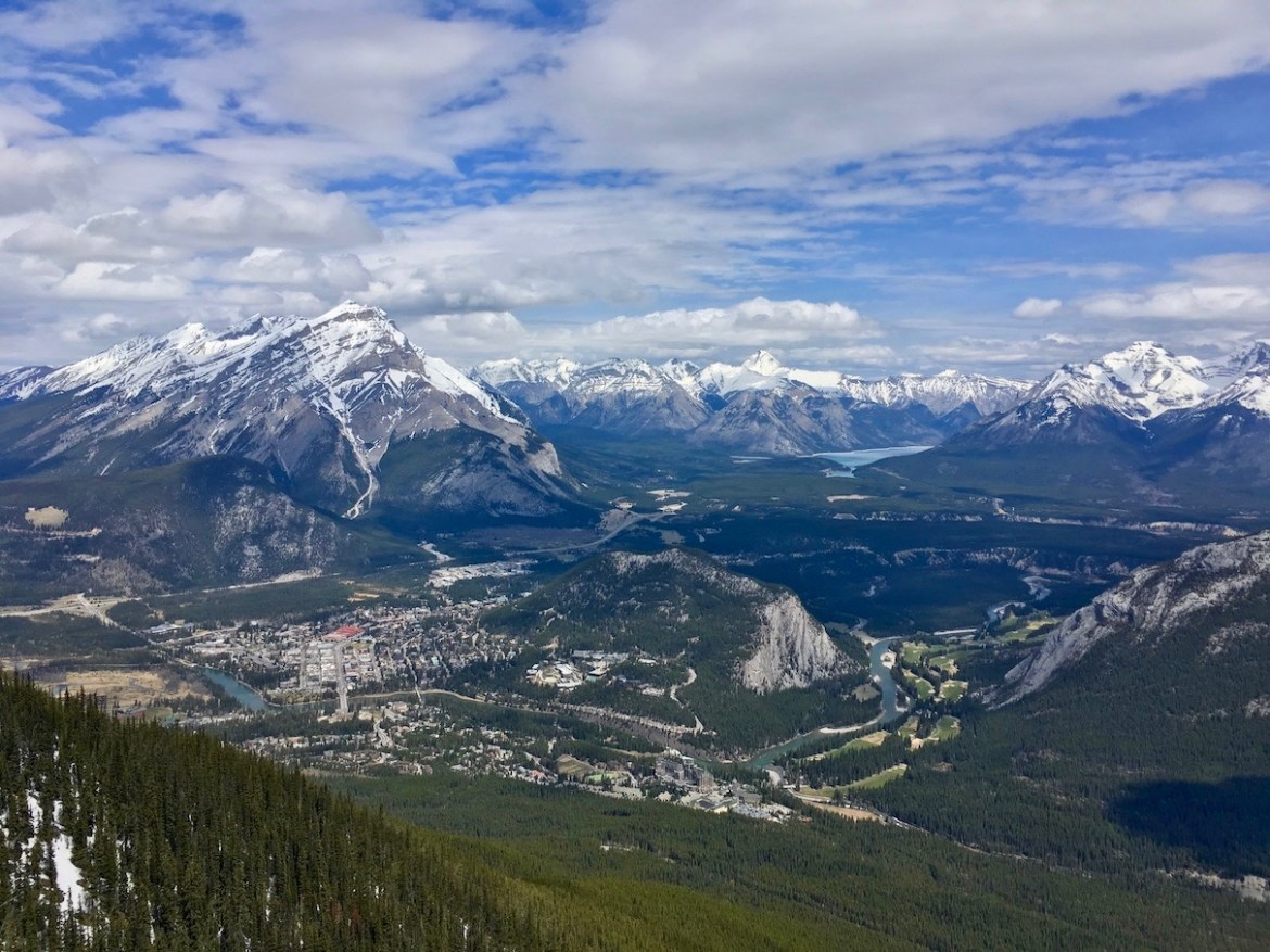 Banff and Tunnel Mountain seen from Sulphur Mountain (Sanson's Peak)