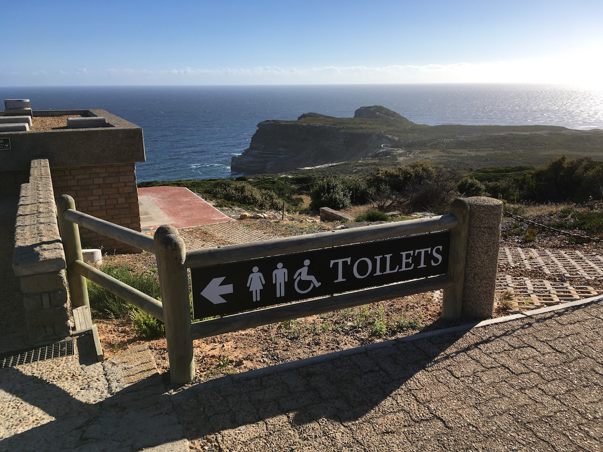 Wheelchair-accessible restrooms at Cape Point Funicular