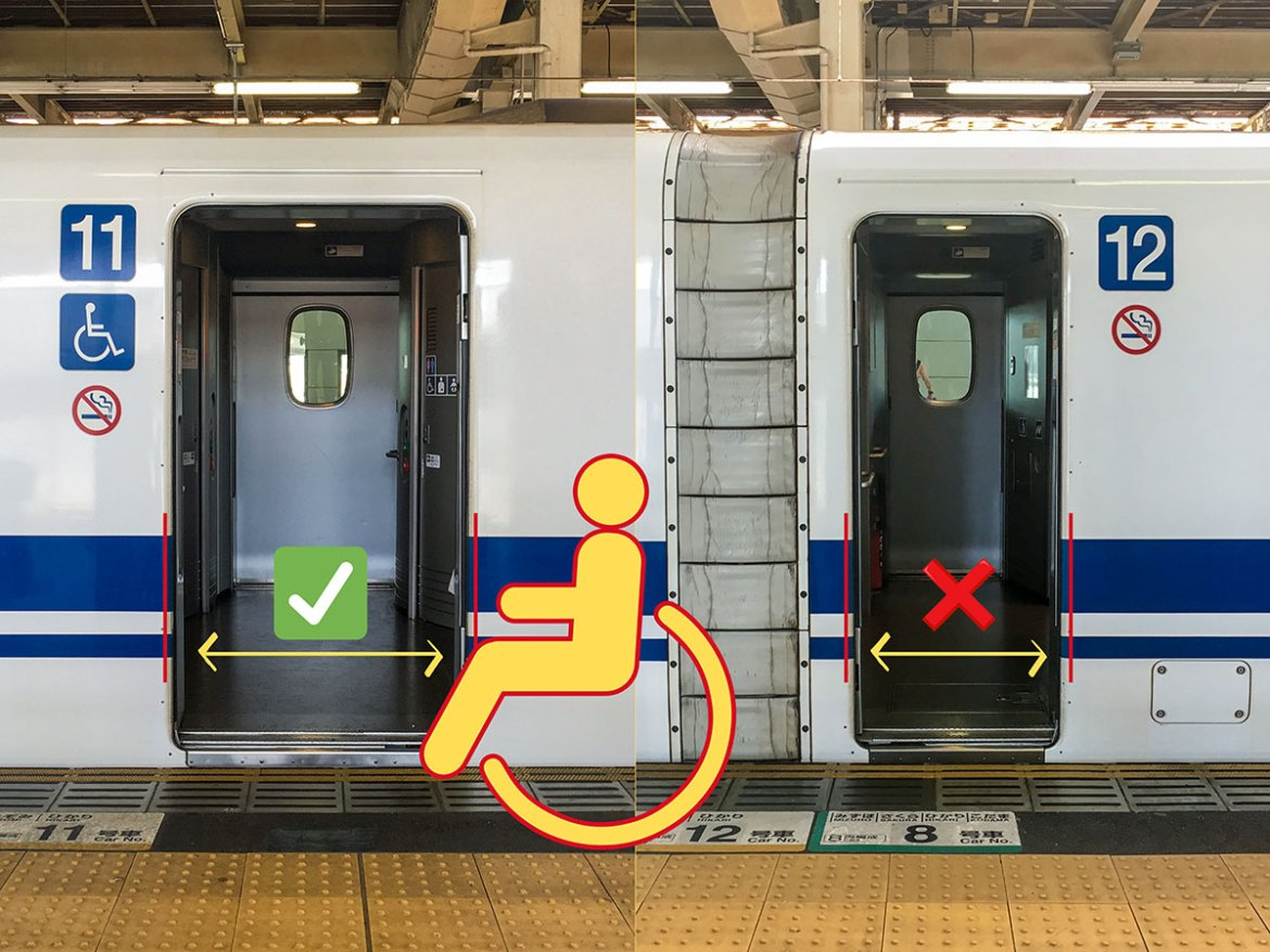 Shinkansen accessible door