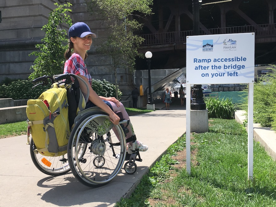 Accessible Ramp Chicago Riverwalk | Little Miss Turtle