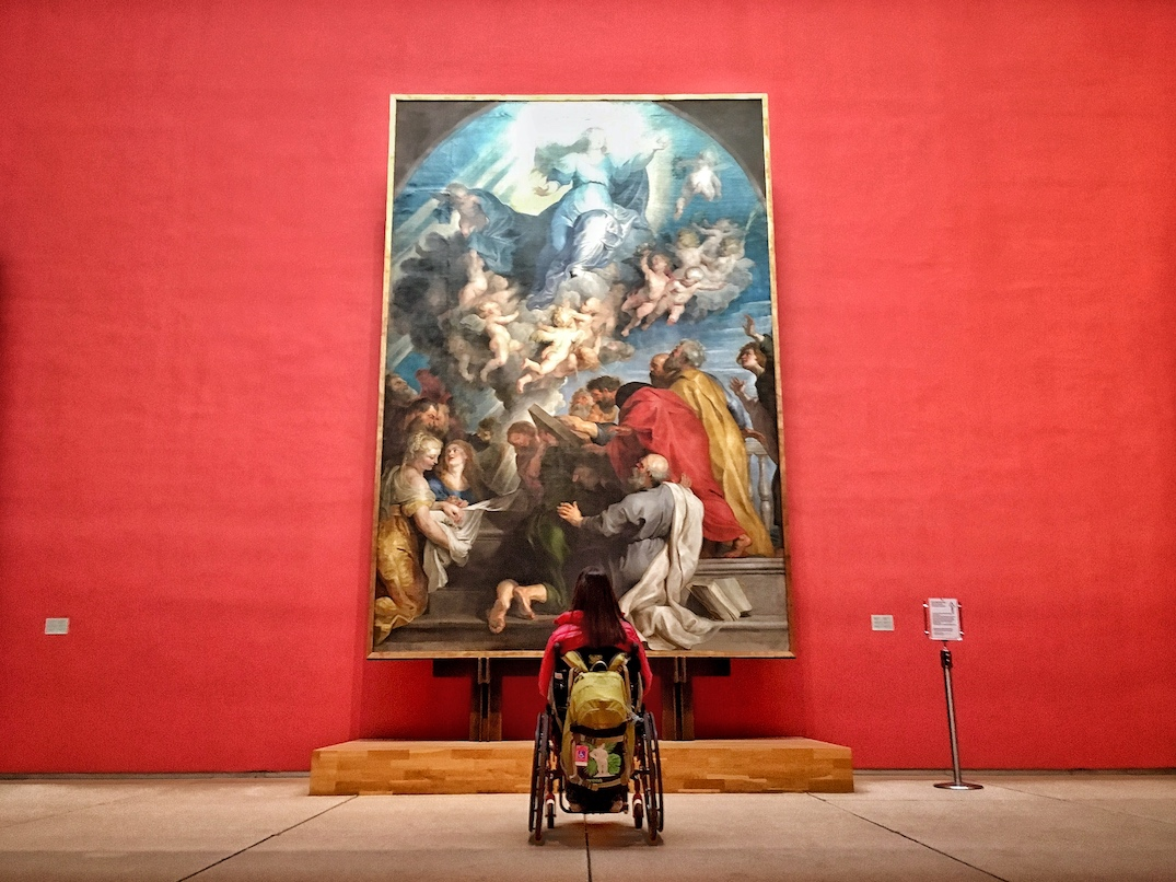 Rubens Assumption of the Virgin Mary | Accessible Old Masters Museum in Brussels | Little Miss Turtle | Accessible Travel Blog