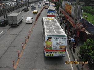 Actual delineators seen in EDSA. Source: DPWH