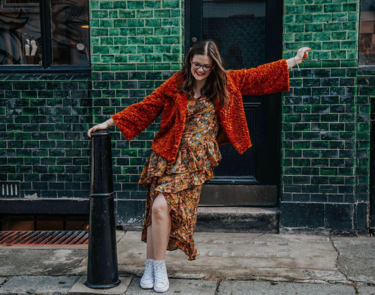Kate Winney Little Miss Winney Hating Instagram Comparison Orange Jacket Asos Glasses