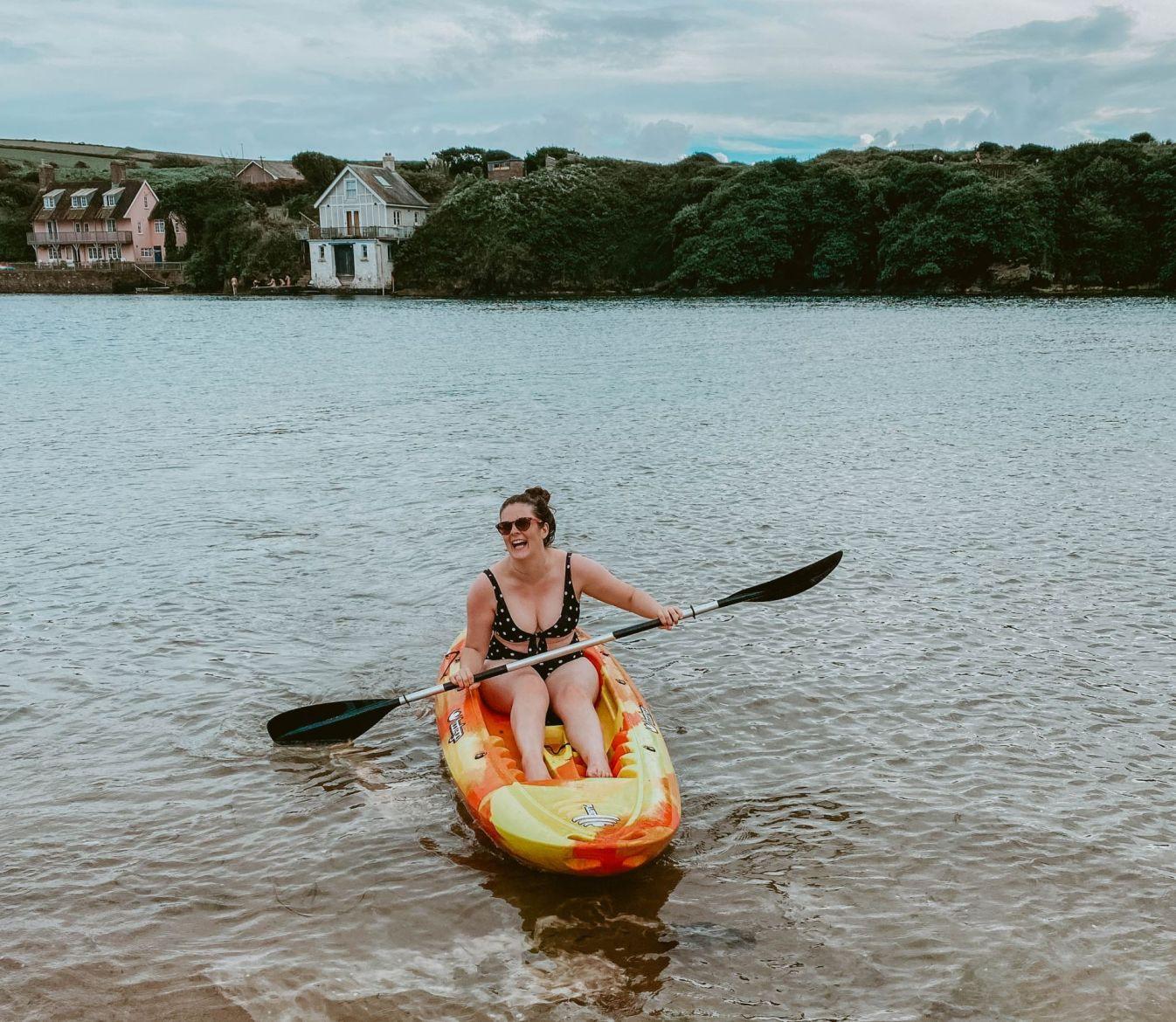 Travel Blog LittleMissWinney Devon Bigbury Coast Cottage cold water swim kayak