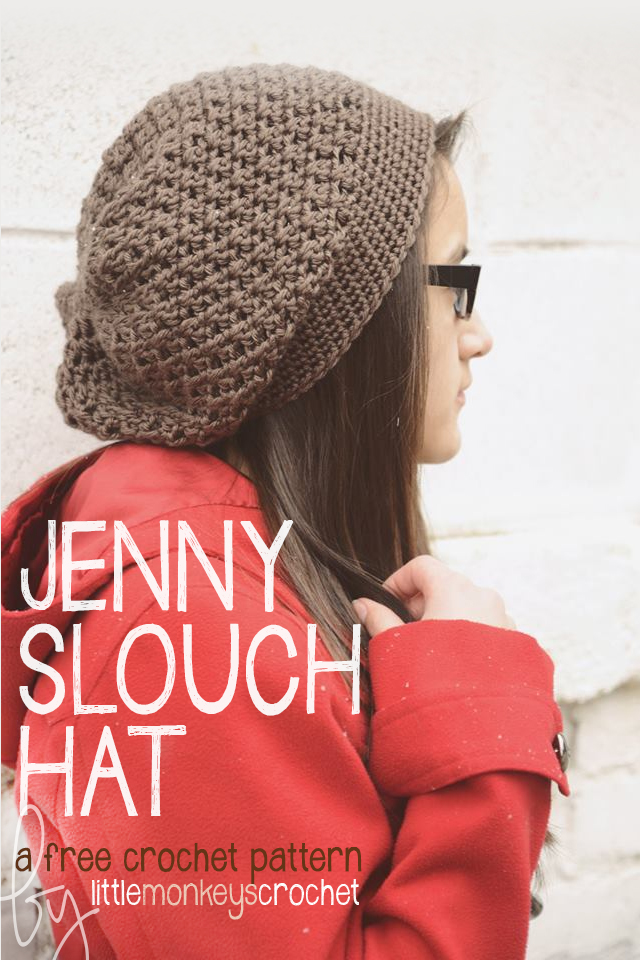 Slouchy Crochet Hat Free Crochet Pattern Little Monkeys Crochet