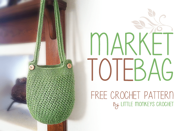Market Tote Bag Free Crochet Pattern Little Monkeys Crochet