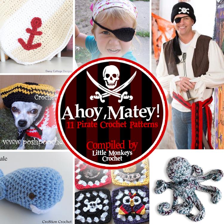 11 Pirate Crochet Patterns Little Monkeys Crochet