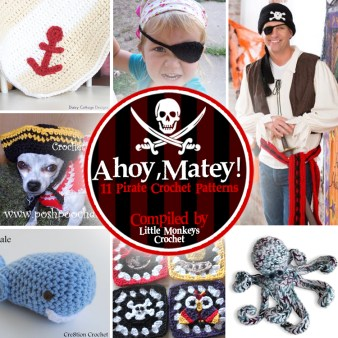 11 Free Pirate Crochet Patterns | compiled by Little Monkeys Crochet