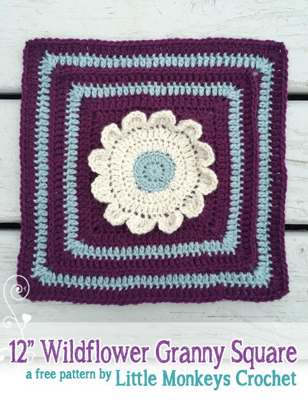 12 Wildflower Granny Square No 1 Little Monkeys Crochet