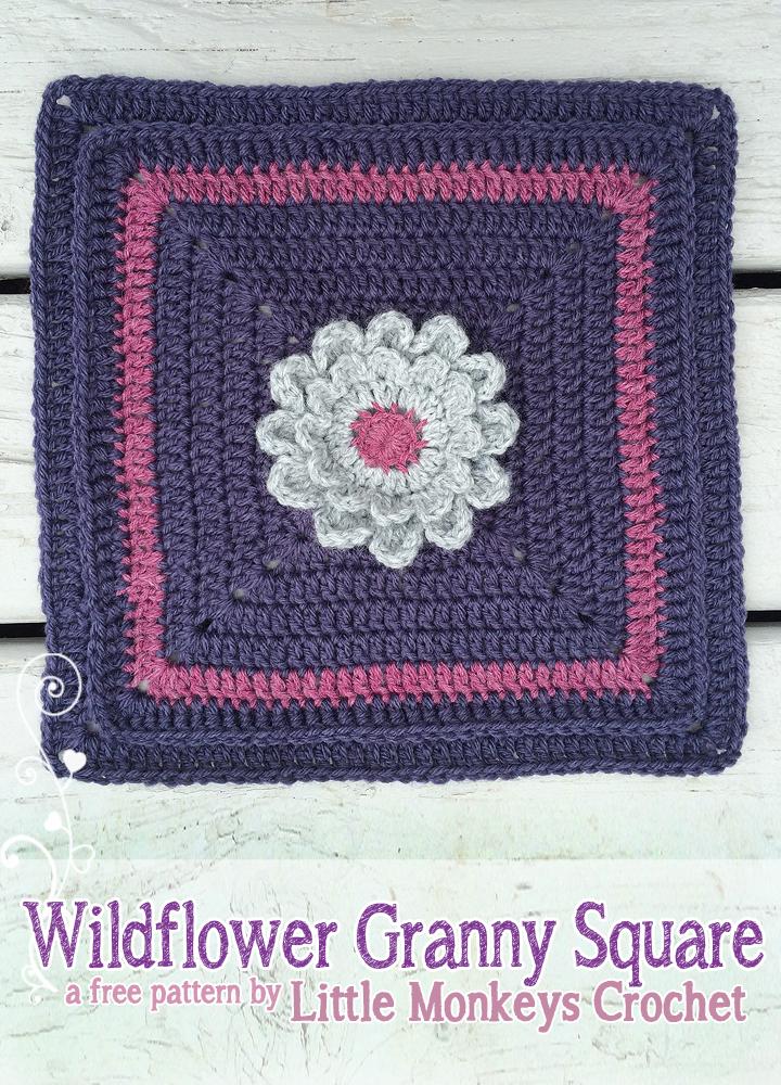 12 Wildflower Granny Square No 2 Little Monkeys Crochet