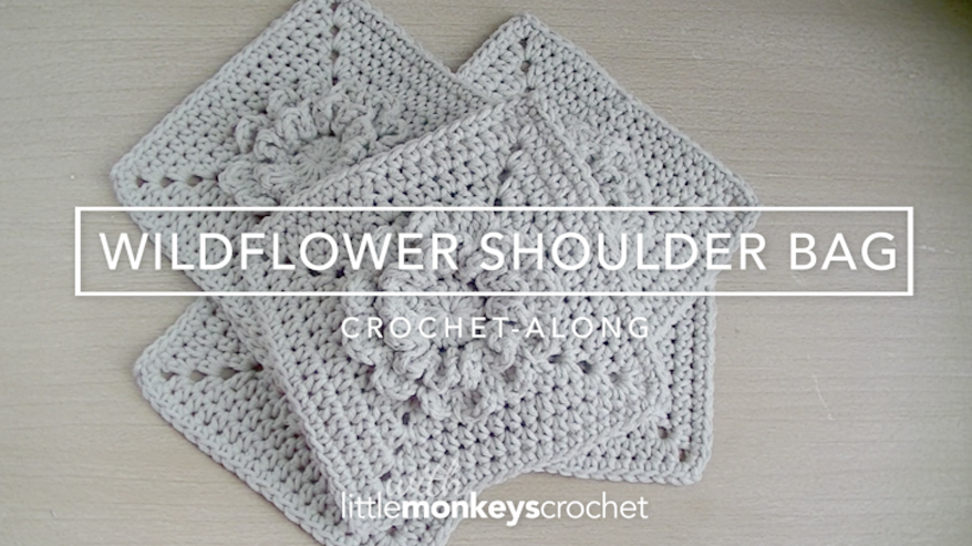 Wildflower Shoulder Bag CAL  |  Free Crochet Purse Pattern by Little Monkeys Crochet