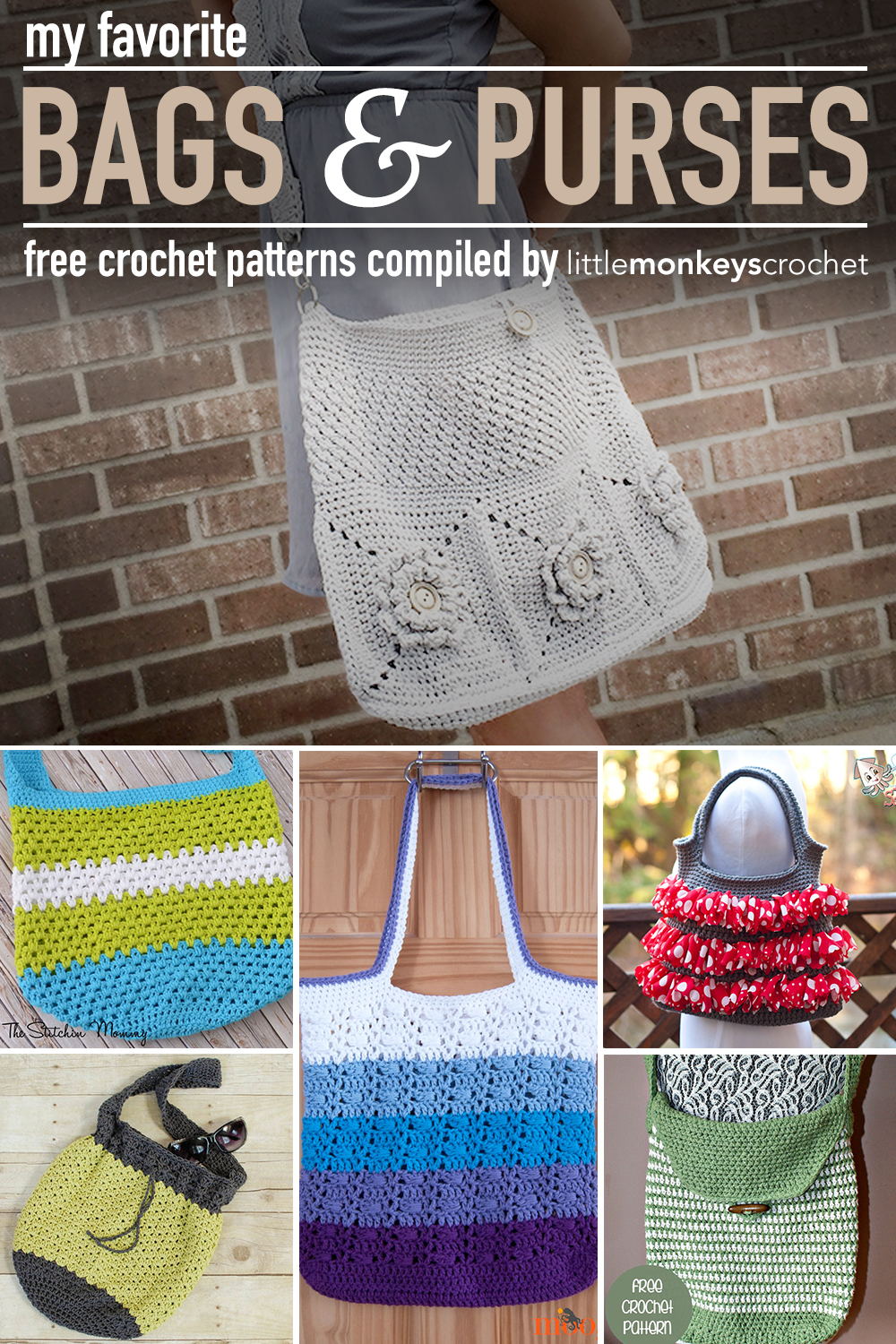 Roundup my favorite purse patterns little monkeys crochet roundup my favorite purse patterns dt1010fo