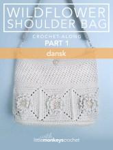 Wildflower Shoulder Bag CAL (Part 1 of 3) - Dansk |  Free Crochet Purse Pattern by Little Monkeys Crochet