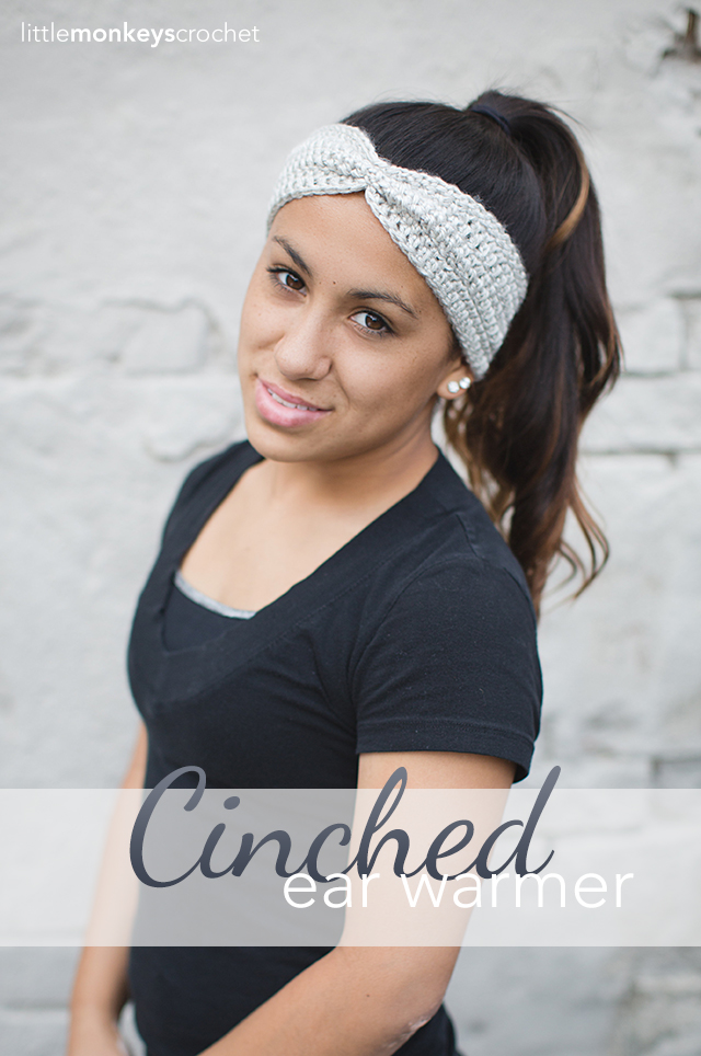 Cinched Ear Warmer Headband (Free Pattern!)