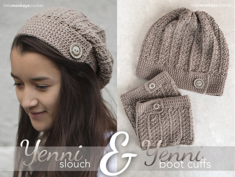 Yenni Slouch Crochet Hat | Free Slouchy Hat Crochet Pattern by Little Monkeys Crochet