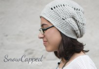 Snowcapped Slouch Crochet Hat  |  Free Slouchy Hat Crochet Pattern by Little Monkeys Crochet