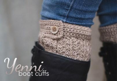 Yenni Crochet Boot Cuffs  |  Free Slouchy Hat Crochet Pattern by Little Monkeys Crochet