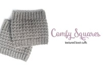 Comfy Squares Textured Boot Cuffs Crochet Pattern  |  Free Boot Cuffs Crochet Pattern by Little Monkeys Crochet
