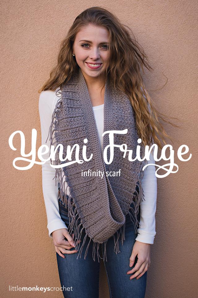 Yenni Fringe Scarf Little Monkeys Crochet