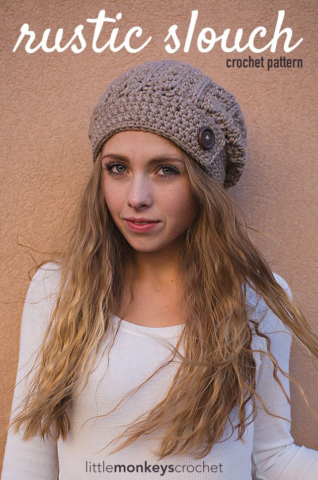 Rustic slouch hat crochet pattern little monkeys crochet rustic slouch crochet pattern dt1010fo