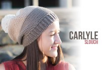 Carlyle Slouch Hat Crochet Pattern  |  Free slouchy hat crochet pattern by Little Monkeys Crochet